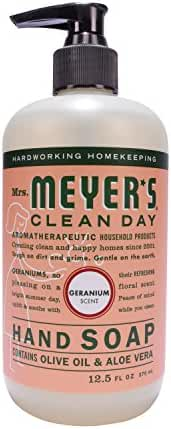 Mrs. Meyer's Clean Day Liquid Hand Soap, Geranium, 12.5 Fluid Ounce