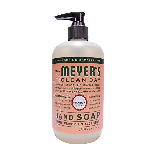 Mrs Meyers Hand Soap Geranium 12.5 Ounce Pump (370ml) (6 Pack) - Geranium Hand Wash