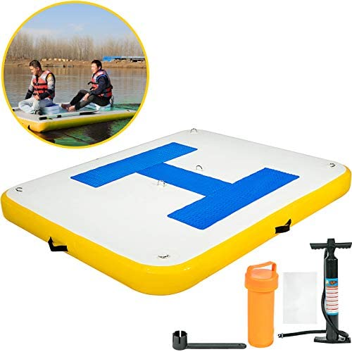 Happybuy Inflatable Floating Dock 8-10 People Floating Platform for Pool Beach Ocean