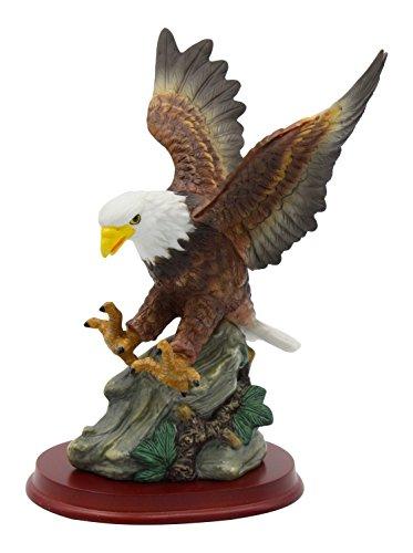 Cosmos Porcelain Eagle on Wood Base