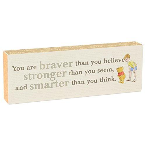 Hallmark Winnie the Pooh Braver, Stronger, Smarter Sentiment Wooden Display