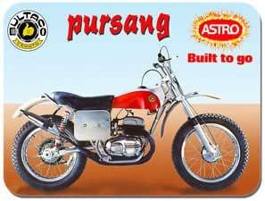 Bultaco maicos Astra para moto alfombrilla de ratón para moto ...