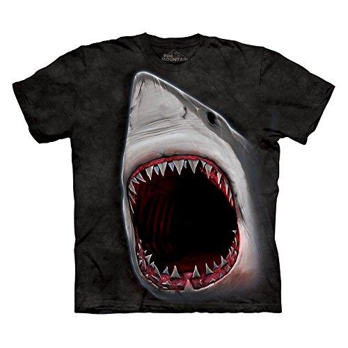 The Mountain Men's Shark Bite Marine T-Shirt Black XL (Bite Black T-shirt)