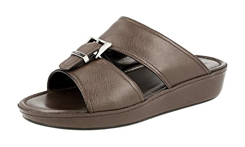 Prada Mens 2X2938 053 F0201 Saffiano Leather Sandals