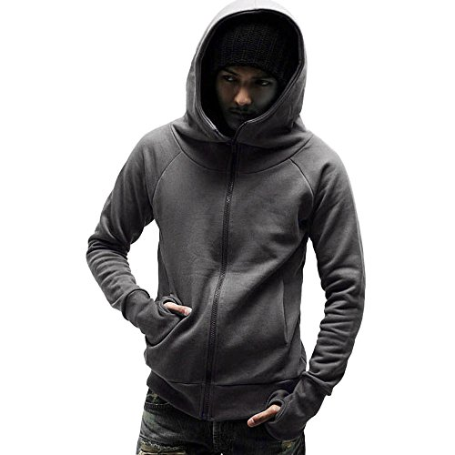 Dark Tops Sweatshirt Outwear Gray Hooded DAYSEVENTH Hoodie Jacket Mens' Coat Winter Autumn fvFCgq