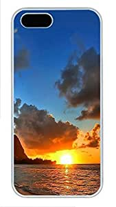 iPhone 5 5S Case Landscapes Beach 3 PC Custom iPhone 5 5S Case Cover White