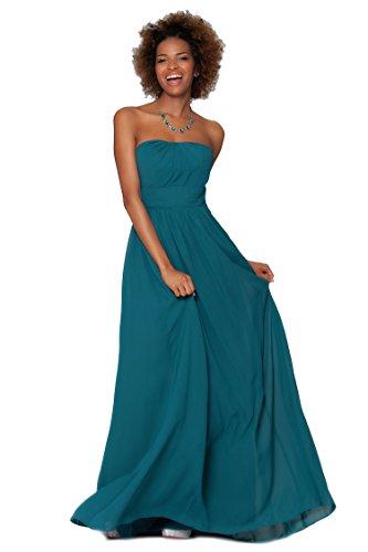 SEXYHER Gorgeous Encuadre de cuerpo entero sin tirantes de las damas de honor vestido de noche formal - EDJ1453 Teal