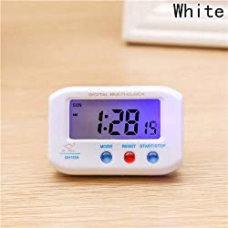 Alarm Clocks for Bedrooms - Portable Alarm Clock Digital LCD Clock with Snooze Backlight Function for Desk Room Car Outdoors