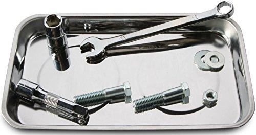 - Tool Rectangle Magnetic Parts Tray Auto Automotive Box Socket Nuts Bolt