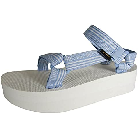 03b0877573cb9a Teva Womens Flatform Universal Platform Sport Sandal Shoes