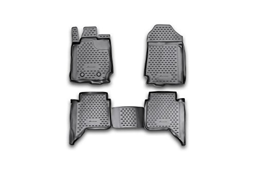 Novline 16.34.210 Mazda BT-50 Four Door Pickup Truck Floor Mats - Liners - 2012-2015 - Four (4) Piece Set - Black