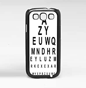 Fun Black and White 20/20 Eye Chart Hard Snap on Phone Case (Galaxy s3 III)