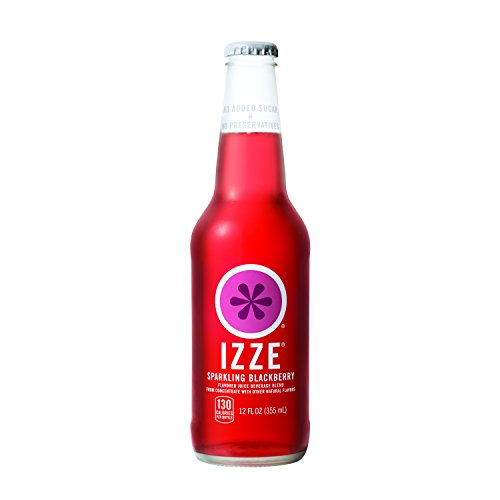 IZZE Sparkling Juice, Blackberry, 12 Fl Oz of glass bottles, Pack of 12 ()