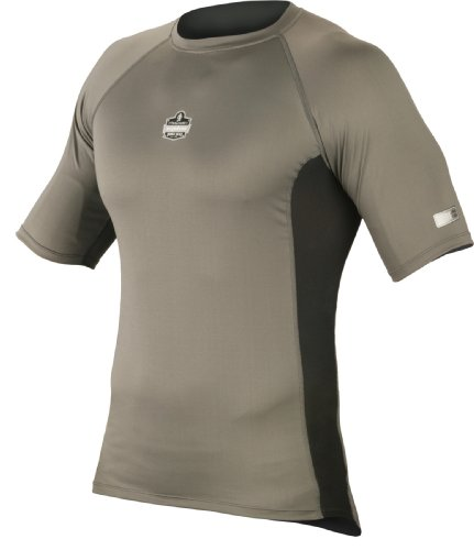 mance Work Wear 6410 Short Sleeve Shirt, Gray, Large (Ergodyne Core)