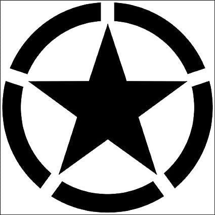 Folienschnitt USA Amerikanischer Armeestern Aufkleber  US Army Star