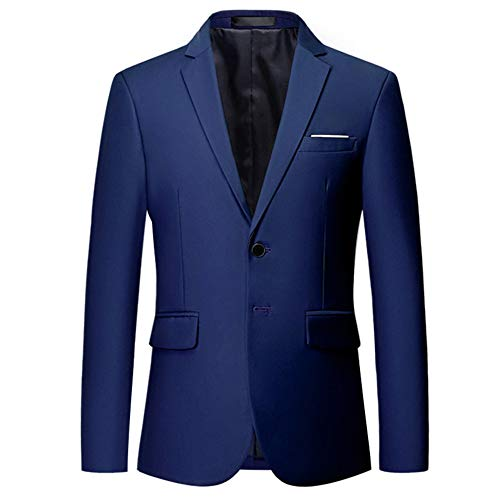 YOUTHUP Mens Blazer Single Breasted Slim Fit Suit Jacket 2 Button Wedding Tuxedo Chic Coats