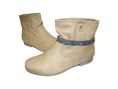 La Loria 2 Stiefelketten Rock Stars Stiefelbänder aus Echtleder Schuhschmuck Grau