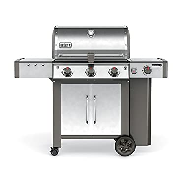 Weber Genesis II LX S-340 Liquid Propane Grill, Stainless Steel (61004001)