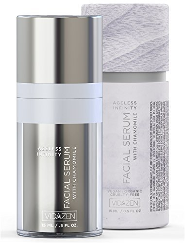 Vidazen Anti Aging Face Serum for Sensitive Skin with Vitamin C Extract - Daily Facial Serum for Dry Oil or Acne Prone Skin - Natural Organic Wrinkle Reducing Face Serum (Cream Intense Hydrating Daily 7)