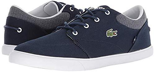 Lacoste Men's Bayliss Sneaker, Navy/White Canvas, 9.5 Medium ()