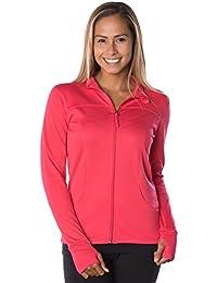 Global Women's Slim Fit Lightweight Full Zip Yoga Workout...
