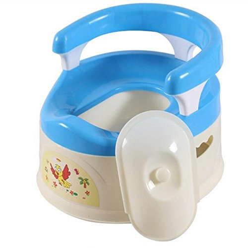 JUNBOSI Potty Chair Removable Children's Potty Training For 0-6 Years Old Babies Easy To Carry Toddler Child Toilet Traine High Back Rest Potty (Color : Blue) by JUNBOSI