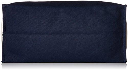 Classic Script prima iniziale due toni classico su tela borsa blu navy e bianco