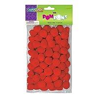 Creativity Street Pom Pons 100-Piece x 1 Inch, Red