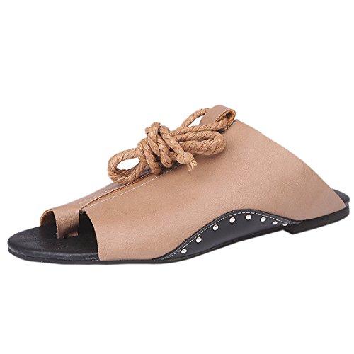 Fond À Plates Z Ouvert Chaussures Romaines QIYUN Cheville Femmes Bout Plat Sandales Sangles Fw6Xq1qB