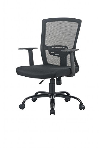 Mr Direct Black Mesh Office Chair Desk Midback Task Computer Chair W/Metal Base by MR Direct