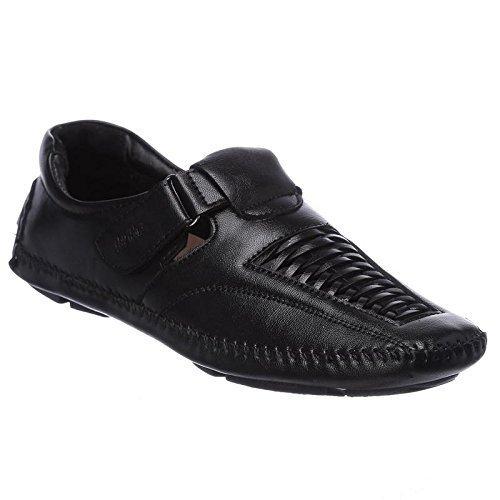 5fba5dcd7d9 brandvilla Shoes for Men Boys Black Colour Casual Stylish Loafer Moccasin  Designer Partywear Sandal