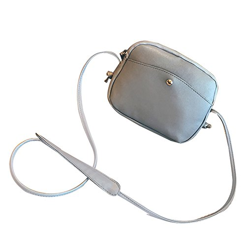 Wicemoon - Bolso cruzados para mujer gris 21*7*17cm gris