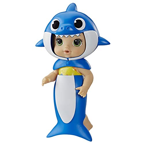 Baby Alive, Baby Shark Brown Hair Doll, with Tail and Hood, Inspired by Hit Song and Dance, Waterplay Toy for Kids Ages 3 Years Old and Up (Amazon Exclusive)
