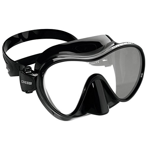 Scuba Mask Gear Dive Black - Cressi Mini Frameless, black