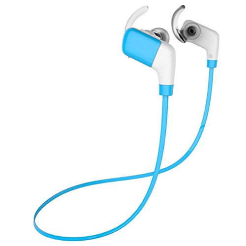 Elaco Bluetooth Headphones YM8 V4.1 Wireless Sports Earbuds Sweatproof Gym Stereo Headset with Mic (Blue) (Corded Iphone4 Mic And Earbud compare prices)