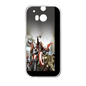 Avengers Characters Illustration HTC One M8 Cell Phone Case White Exquisite gift (SA_626012)