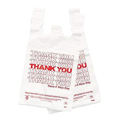 2bfbf6345 Amazon.com: (400/Case) 1/6 Full Size Plastic T-shirt Shopping Bags ...