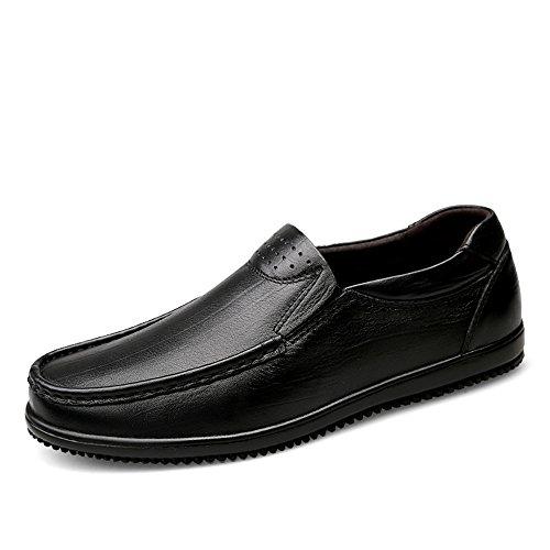 Vacchetta piatta uomo leggero Slip Loafer Color shoes a EU da Dimensione piatto spillo on Tacco Nero Mocassino 45 Marrone Business Formal a Tacco spillo Meimei qvY6z8Yw