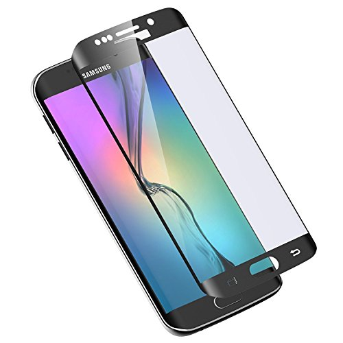 Galaxy S6 Edge Plus Tempered a glass tv screen Protector Asstar 100 % Coverage 9H 02mm Thinest Shatterproof Fingerprint free bubble free Film for Samsung Galaxy S6 Edge Black eBook Readers Accessories