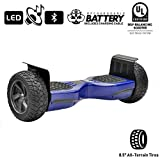 NHT Hoverboard - All Terrain Rugged 8.5 Inch Wheels Off-Road Electric Smart Self