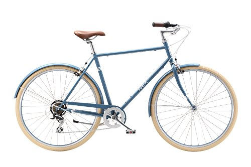PUBLIC Bikes V7 Comfort 7-Speed City Bike, 21.5″ Medium/Large, Slate Blue