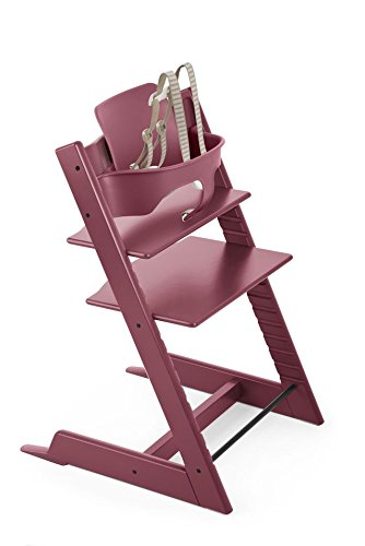 (Stokke Tripp Trapp Chair Baby Set, No Harness, Heather Pink)