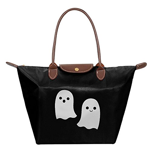 Halloween Ghosts Women's Folding Tote Handbag