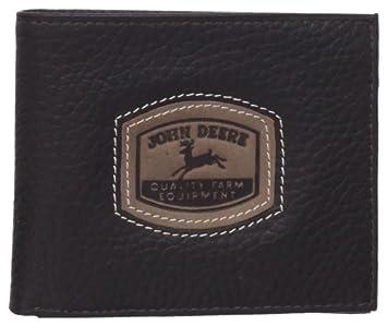 John Deere Cartera Billetera con Pasaporte de Cuero con Parche en Relieve para Hombre Talla única Marrón: Amazon.es: Equipaje