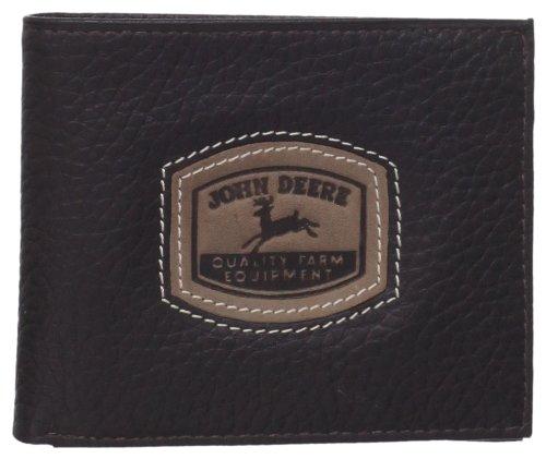 John Leather (John Deere Men's Historical Logo Passcase Wallet, Brown, One Size)