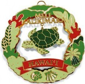 hawaii metal hawaiian christmas ornament turtle