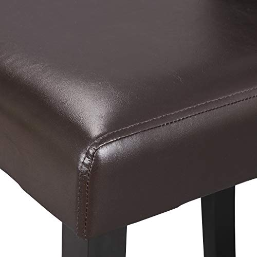 ZENY Set of 6 Solid Wood Leatherette Padded Parson Chair, Dining Chair Brown Furniture Urban Style by ZENY (Image #3)