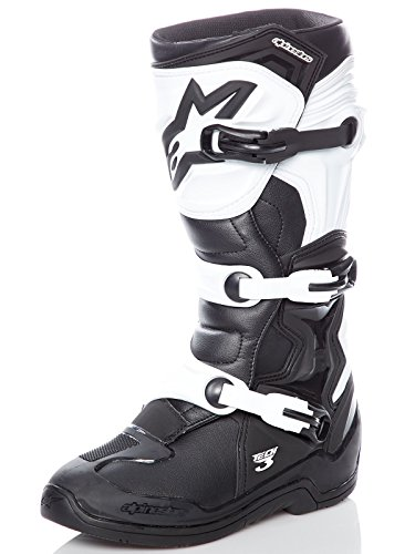 (Alpinestars Tech 3 Boots-Black/White-10)