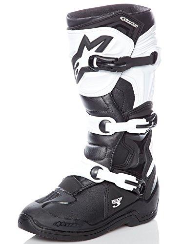 - Alpinestars Tech 3 Boots-Black/White-10