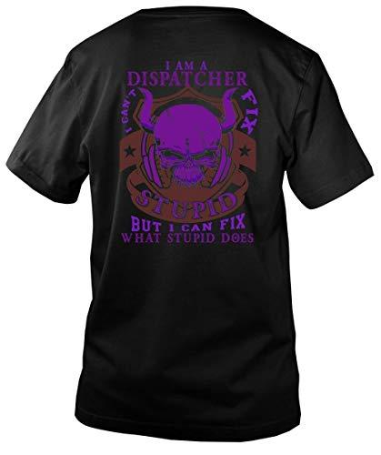 Father Shirt-I Am A Dispatcher Men's V-Neck Tee, I Love Dispatcher T Shirt-Men V-Neck (L, Black)